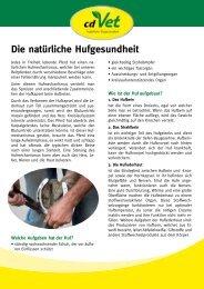 Die natürliche Hufgesundheit - cdvet
