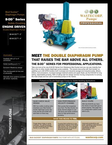 MEET THE DOUBLE DIAPHRAGM PUMP - Wastecorp Pumps