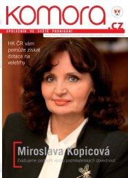 Miroslava Kopicová - Hospodářská komora České republiky