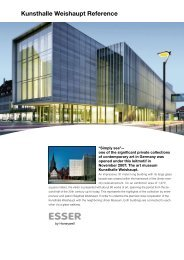Kunsthalle Weishaupt Reference - ESSER by Honeywell