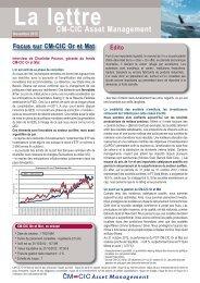 Lettre Distrib externe novembre_Mise en page 1 - CM-CIC Asset ...