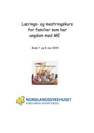 Program ME kurs 7.-8. mai 2009 - Helse Nord