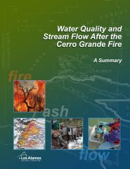 Water Quality and Stream Flow After the Cerro Grande Fire Water ...