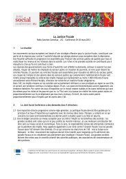 La Justice Fiscale - Joint Social Conference