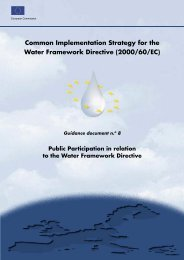 Public Participation in Relation to the Water Framework Directive