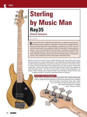 Sterling by Music Man Ray35 - Music Info