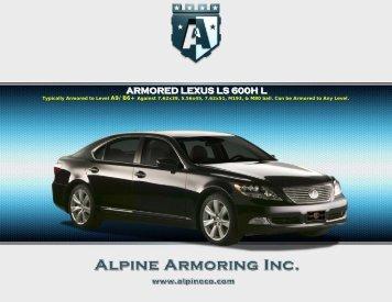 Armored Specs - Alpine Armoring Inc.