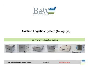 Aviation Logistics System (A-LogSys)