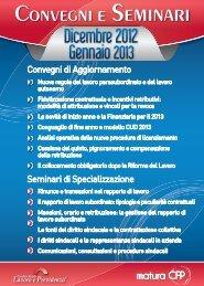 Dicembre 2012 Gennaio 2013 - Centro Studi Lavoro e Previdenza
