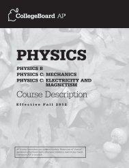 Physics Course Description - AP Central - College Board