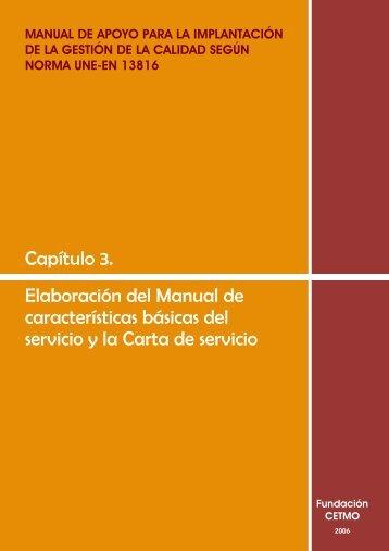 Elaboración del Manual de características básicas del servicio y la ...