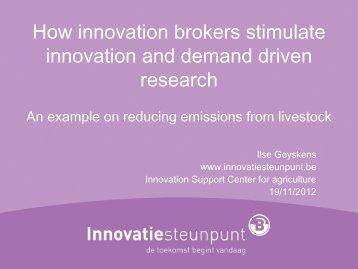 Presentations by Ilse Geyskens, Innovation Brokers