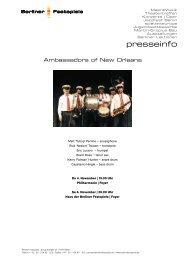 Pressemappe Jazzfest 04 - Berliner Festspiele