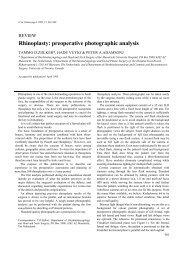 Rhinoplasty: preoperative photographic analysis