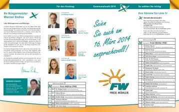 Ihr Bürgermeister Werner Endres - Freie Wähler Dietmannsried
