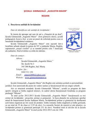 """şcoala gimnazială """"augustin maior"""" reghin - Inspectoratul Şcolar ..."""