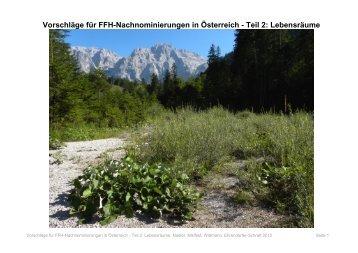 Vorschläge für FFH-Nachnominierungen in Österreich - Teil 2 ...