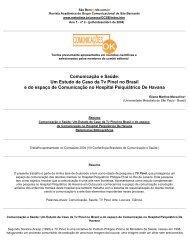 Um Estudo de Caso da Tv Pinel no Brasil e do espaço de