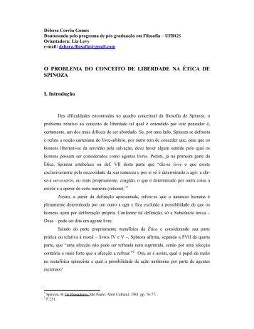 Gomes, D. - O problema do conceito de liberdade na Etica d…