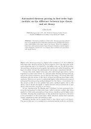 Automated theorem proving in first-order logic modulo: on the ... - Inria