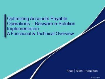 Basware e-Solution Implementation at Booz Allen Hamilton