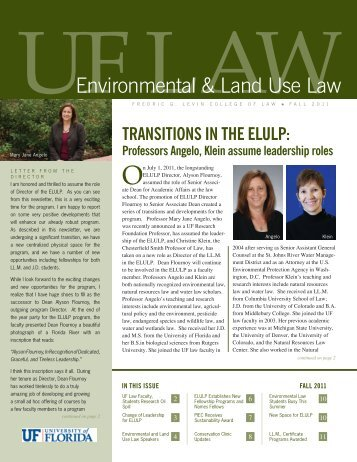 Environmental & Land Use Law Newsletter - Levin College of Law ...
