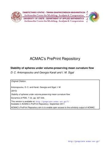 Download (313Kb) - ACMAC's PrePrint Repository