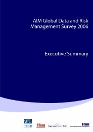 AIM Global Data and Risk Management Survey ... - bei dbc-consult