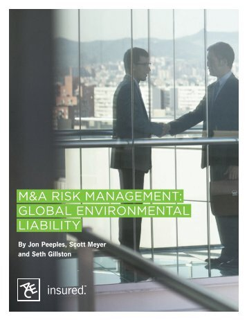 M&A Risk MAnAgeMent: globAl enviRonMentAl liAbility - ACE Group