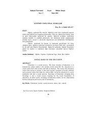 Eğitimin Toplumsal Temelleri - Sosyal Bilimler Enstitüsü - Balıkesir ...