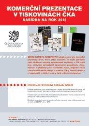 cenik CKA 2012.pdf - Česká komora architektů