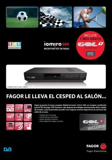 Hoja Publicidad Iomiro 500 - Fagor Electrónica