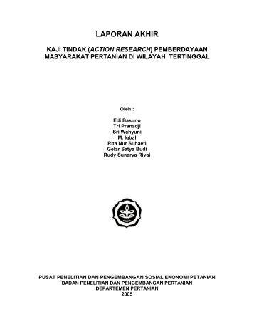 Kaji Tindak (Action Research) - Pusat Sosial Ekonomi dan ...