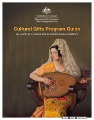 Cultural Gifts Program Guide (PDF - 1.4 MB) - Office for the Arts
