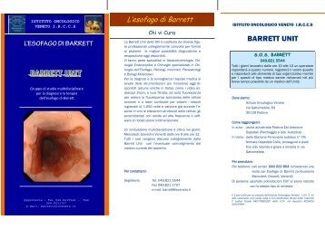 opuscolo barrett modificato.pub - Endoscopia Diagnostica e Operativa