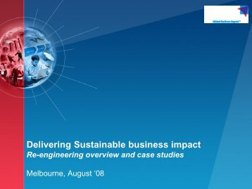 Delivering Sustainable business impact - Australian Organisation for ...