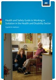 Health and Safety Guide to Working in Isolation in the Health ... - ACC