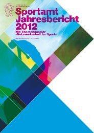 Jahresbericht Sportamt 2012 (PDF, 1 MB) - Kanton Zürich