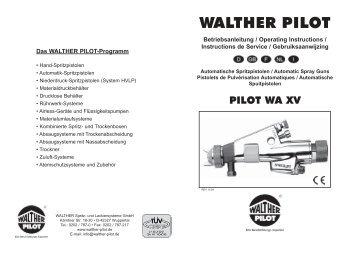 PILOT WA XV _W-Betriebsanleitung.indd - Spray Guns