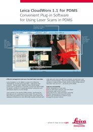 Leica CloudWorx 1.1 for PDMS Convenient Plug-in Software for ...