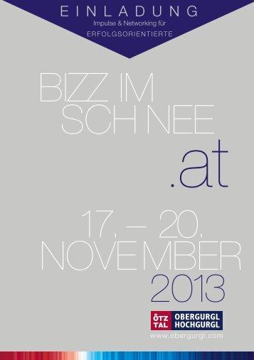BIZZ im Schnee 2013 Einladung