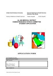Ethical Application Form - College of Medicine and Health Science
