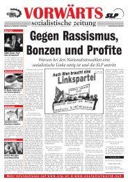 Warum bei den Nationalratswahlen eine sozialistische Linke ... - SLP