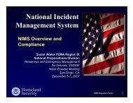 National Incident Management System - Readiness and Emergency ...