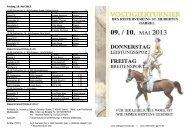 Zeiteinteilung - Reiterverein St. Hubertus Garrel