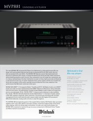 McIntosh's first Blu-ray player - Vadeli