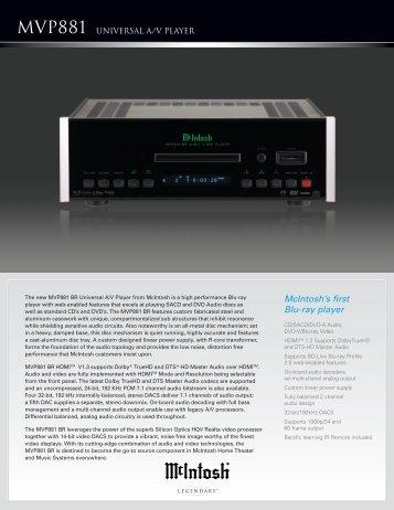 McIntosh's first Blu-ray player - Vadeli