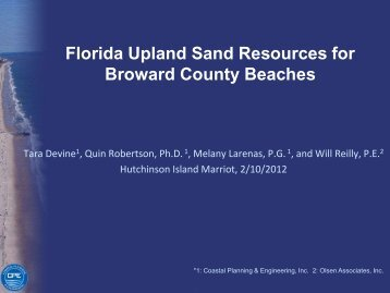 Florida Upland Sand Resources for Broward County Beaches - fsbpa