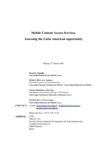 Mobile Content Access Services. Assessing the ... - USC Marshall