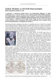 Ferenci Ebubekir: Székely Ábrahám, az első török könyvnyomdász